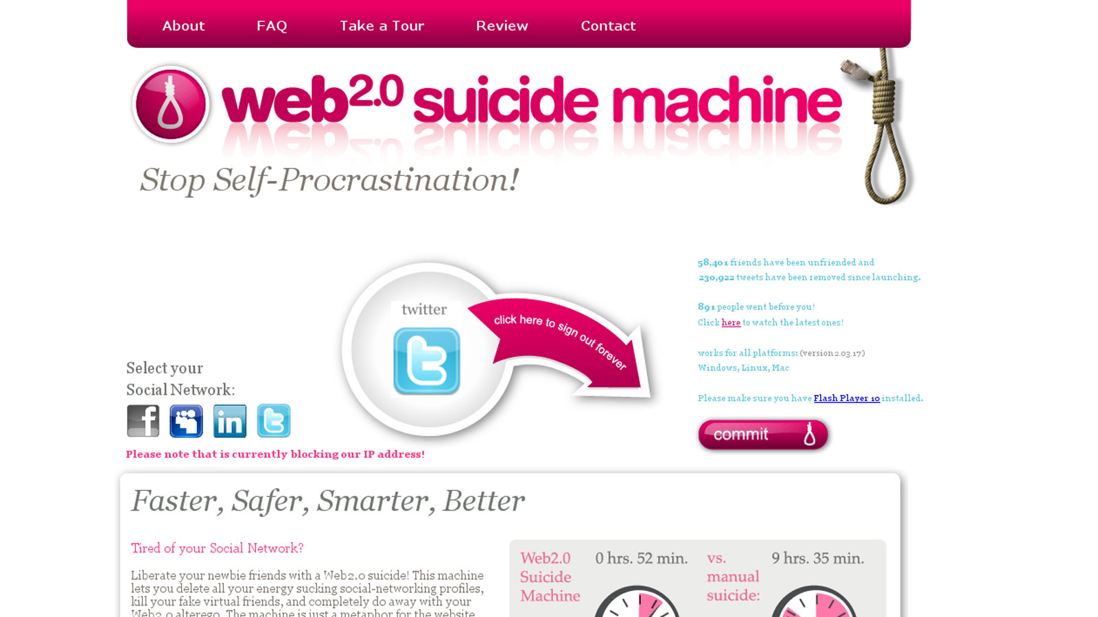Web Suicide Machine